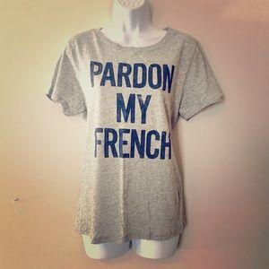 JCrew Pardon My French Tshirt NEW Sz Large